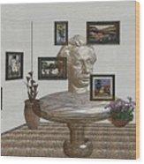 Bust Of The Spirit Of Einstein 1 Wood Print