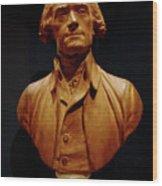 Bust Of Thomas Jefferson  Wood Print