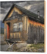 Busted Shack Wood Print