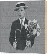 Buster Keaton Wood Print