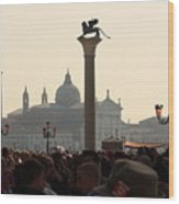 Busy Day at St. Mark's Square Wood Print