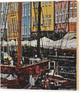 Busy Nyhavn Wood Print