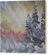 But The Weather Man Said.... Wood Print