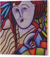 Butah Dancer Wearing Quilot Wood Print