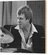 Butch Miles, Jazz Drummer Wood Print