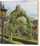 Butchart Gardens Arches Wood Print