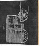 Butcher's Wagon Patent Wood Print
