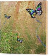 Buterflies Dream Wood Print