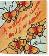 Buterflywhispers2 Wood Print