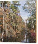 Butler Creek In Autumn Colors Wood Print