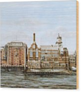 Butlers Wharf And Courage's Brewery Wood Print