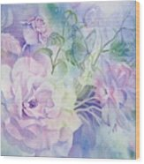 Butterflies-and-roses Wood Print