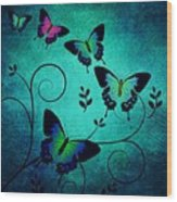 Butterflies At Dusk Wood Print