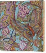 Butterflies Everywhere Wood Print
