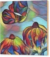 Butterflies For Children 1 Wood Print