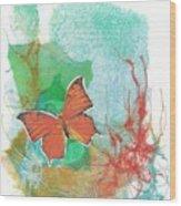 Butterflies in Blue Skies Wood Print