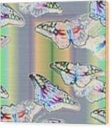 Butterflies In The Vortex Wood Print