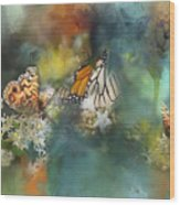 Butterflies On A Spring Day Wood Print