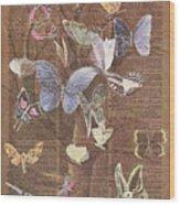 Butterflies On A Tree Wood Print
