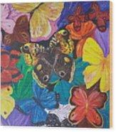 Butterflies 2 Wood Print