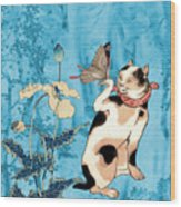 Butterfly Charmer Wood Print