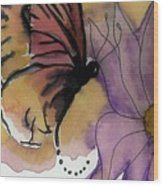 Butterfly Collecting Wood Print