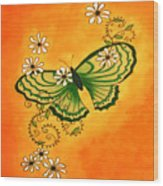 Butterfly Doodle Wood Print