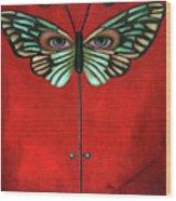 Butterfly Eyes Wood Print