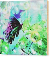 Butterfly Fantasty Wood Print