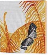 Butterfly Fern Wood Print