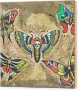 Butterfly Flash Wood Print