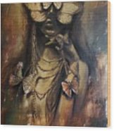 Butterfly Girl.  Wood Print