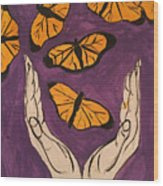Butterfly Glory Wood Print