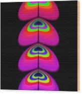 Butterfly Heart Wood Print