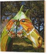 Butterfly Horse Ocala Florida Wood Print