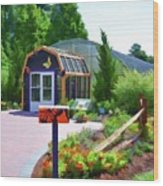 Butterfly House 1 Wood Print