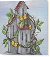 Butterfly House Wood Print