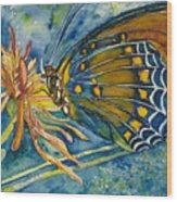 Butterfly In Ca Wood Print