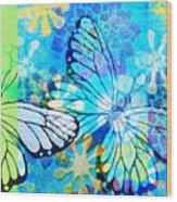 Butterfly In Flight #3  Wood Print