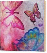 Butterfly Jam Wood Print
