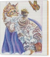 Butterfly Kitten Wood Print