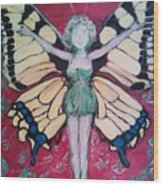 Butterfly Lady Wood Print