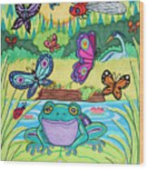 Butterfly Lake Wood Print
