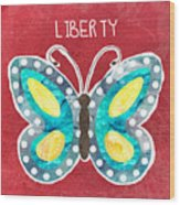 Butterfly Liberty Wood Print