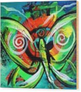 Butterfly Love Wood Print