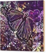 Butterfly Monarch Flower  Wood Print