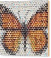 Butterfly Mosaic Wood Print