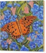 Butterfly Orange Wood Print