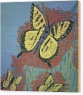 Butterfly Picnic Wood Print