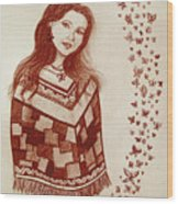 Butterfly Princess Wood Print